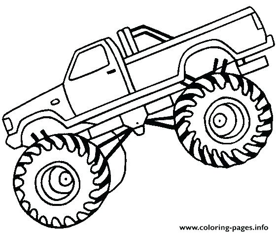 560x475 Easy Truck Drawing Easy Monster Truck Big Coloring Pages Printable