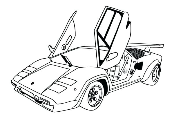 600x424 How To Draw A Easy Lamborghini Easy To Draw How To Draw A Drawing