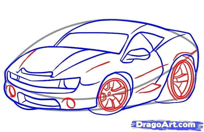 662x429 How To Draw A Cool Car Step
