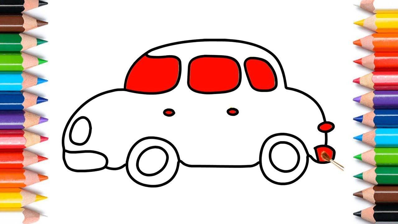 1280x720 How To Draw A Car Easy Step