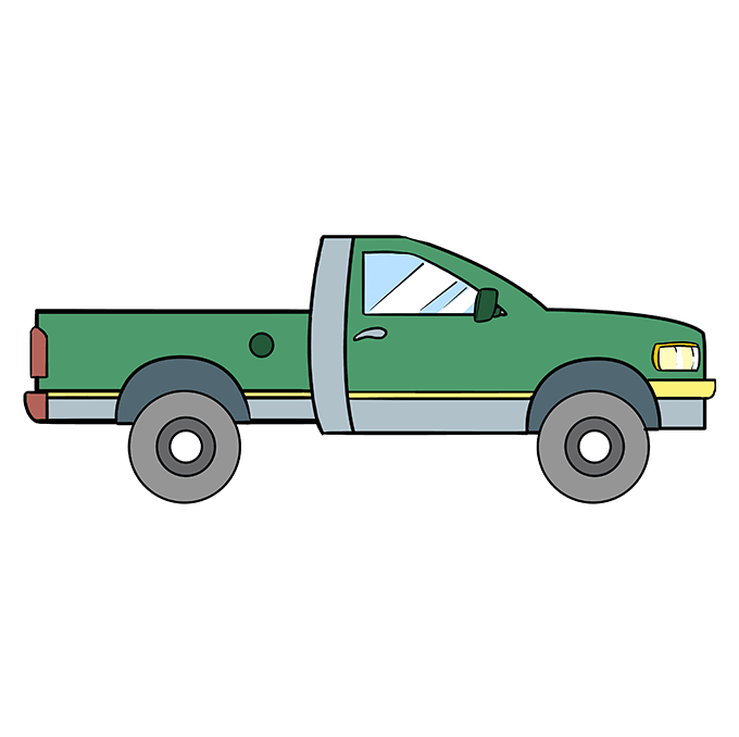 680x678 How To Draw A Truck Really Easy Drawing Tutorial