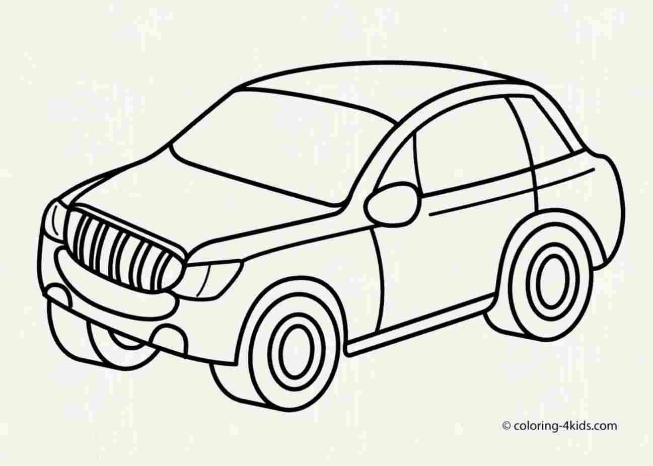 1297x926 Car Drawing Easy For Kids Drawing Fine Art