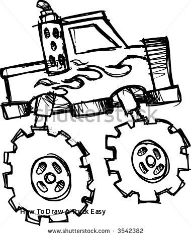 380x470 Coloring Beautiful Easy Truck Drawings Very Easy Car To Draw