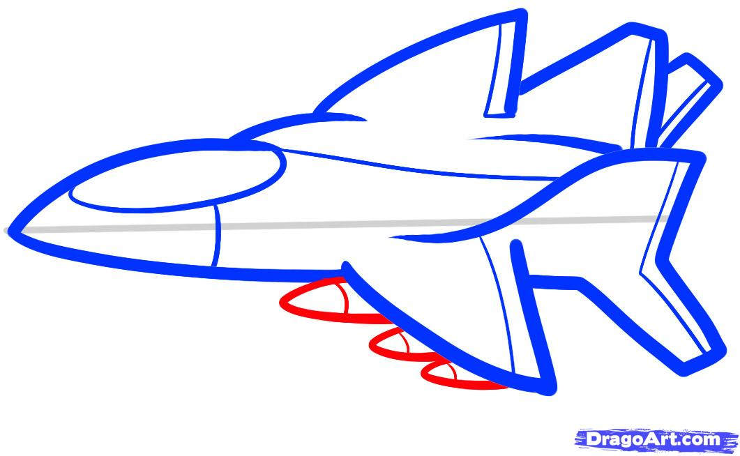 1061x654 How To Draw A Jet For Kids, Step