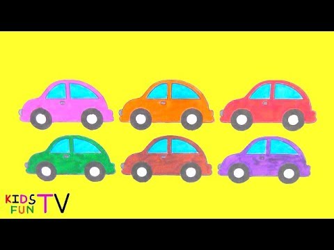 480x360 Learn Colors And How To Draw Car Coloring Pages And Drawing