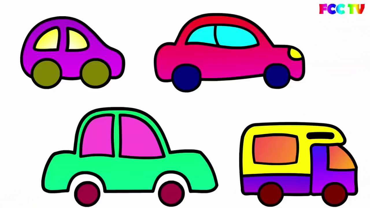 1280x720 To Draw For Kids How To Draw A Car Cars Coloring