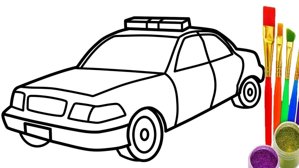 1024x576 Big Car Picture For Coloring How To Draw Police