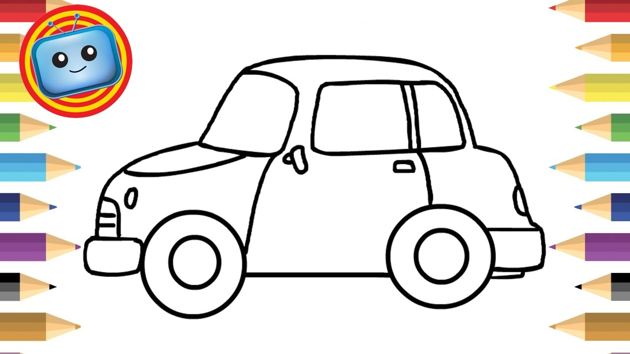 1280x720 Car Drawing For Kids And How To Draw A Car For Kids Simple