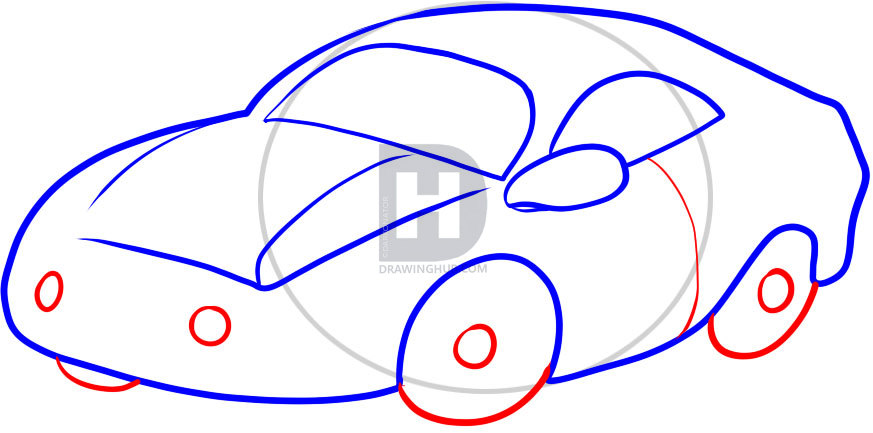 Car Drawing For Kids Step By Step Free Download Best Car Drawing