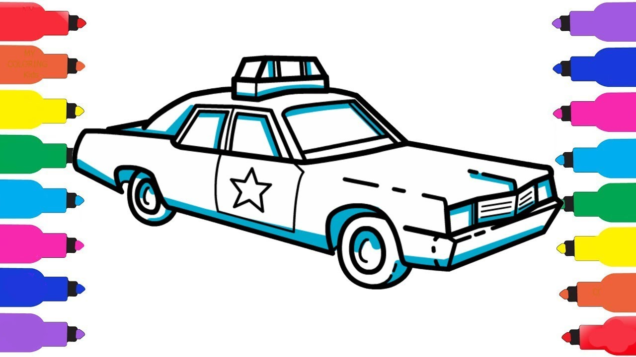 1280x720 how to draw a police car how to draw a police car coloring pages