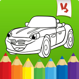 256x256 Best Coloring Book Cars