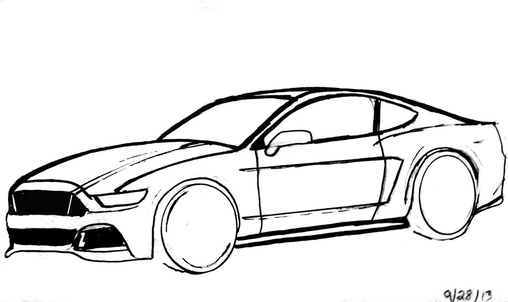 1024x609 Drawing Clipart Car
