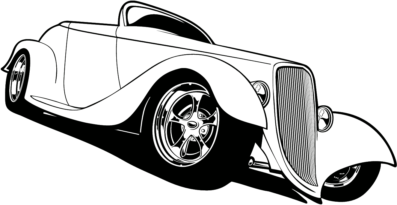 1325x687 Muscle Car Drawing Clipart Image
