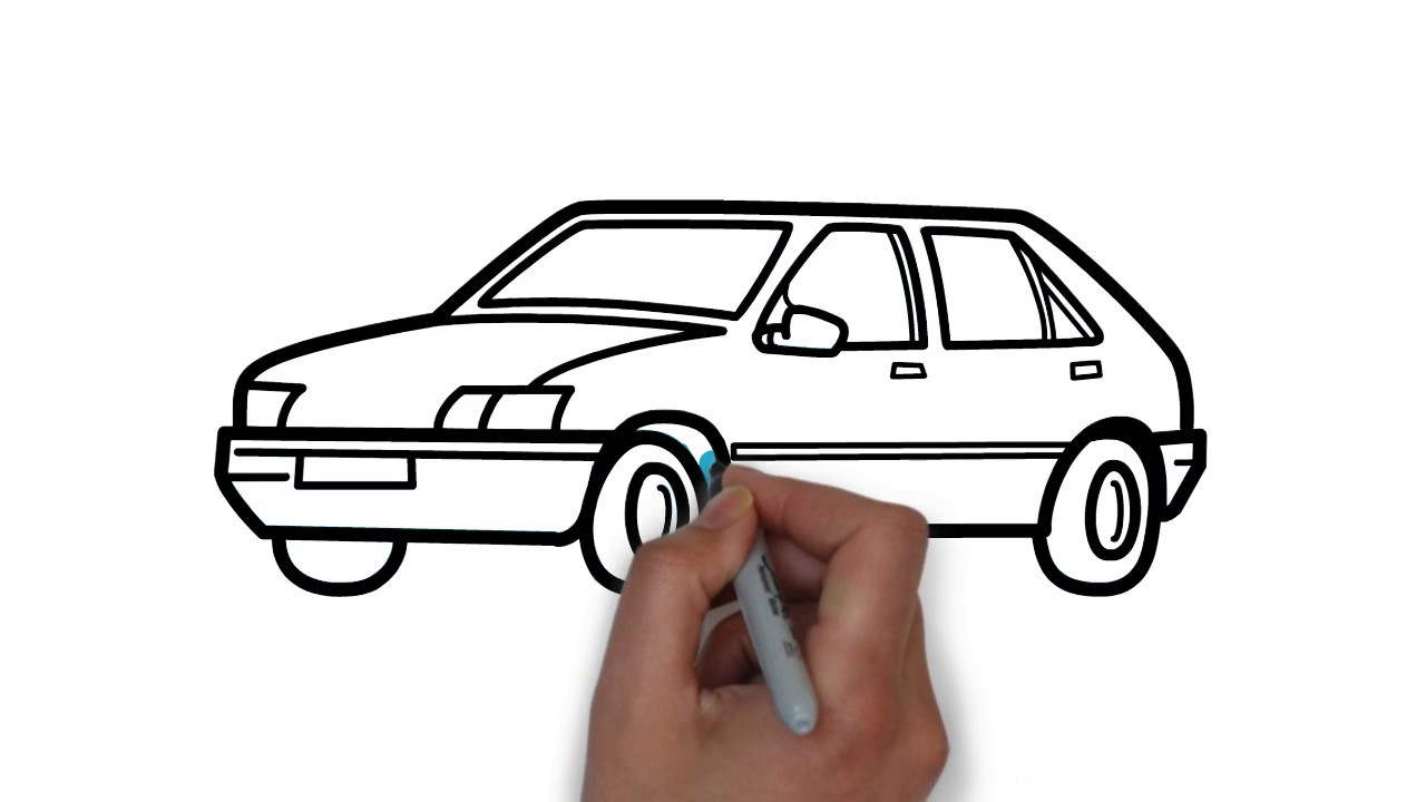 1280x720 An Easy And Beautiful Car Drawing For Kids Hd Video