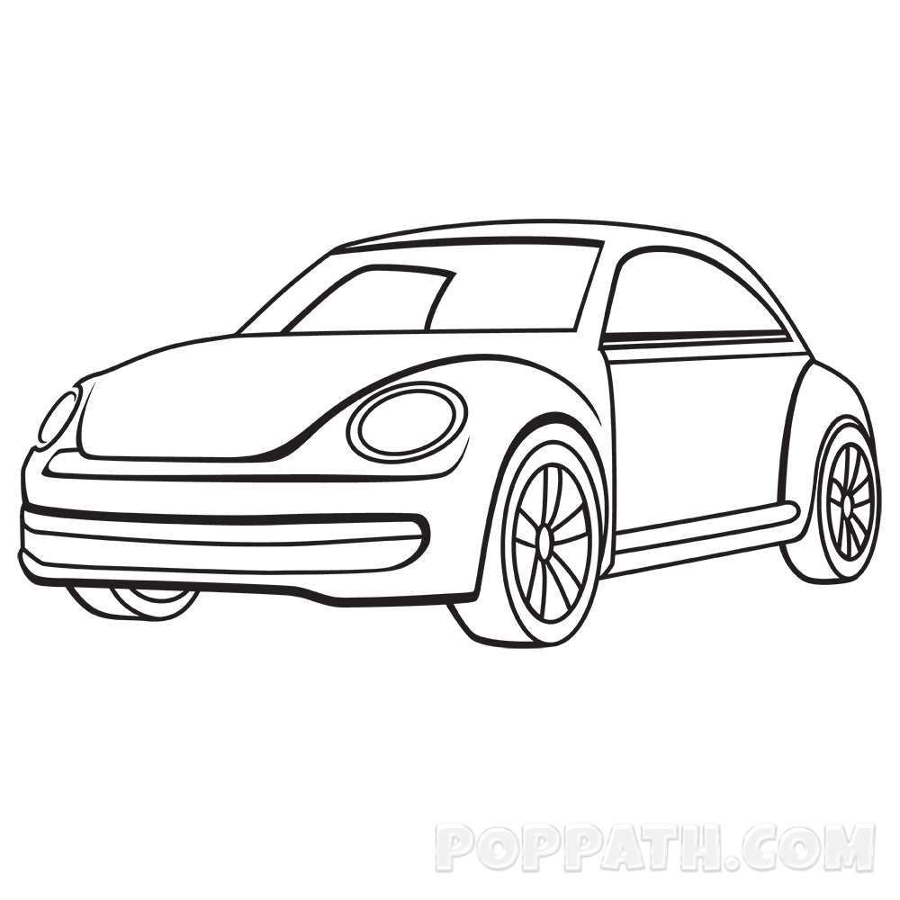 1000x1000 Car Drawing, Pencil, Sketch, Colorful, Realistic Art Images