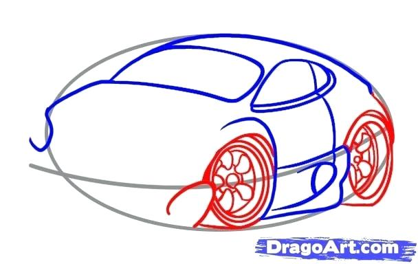 608x384 Drawing Of A Simple Car How To Draw An Easy Car Step Drawing