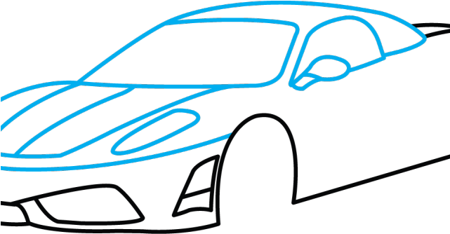 641x334 Drawn Ferrari Drawing