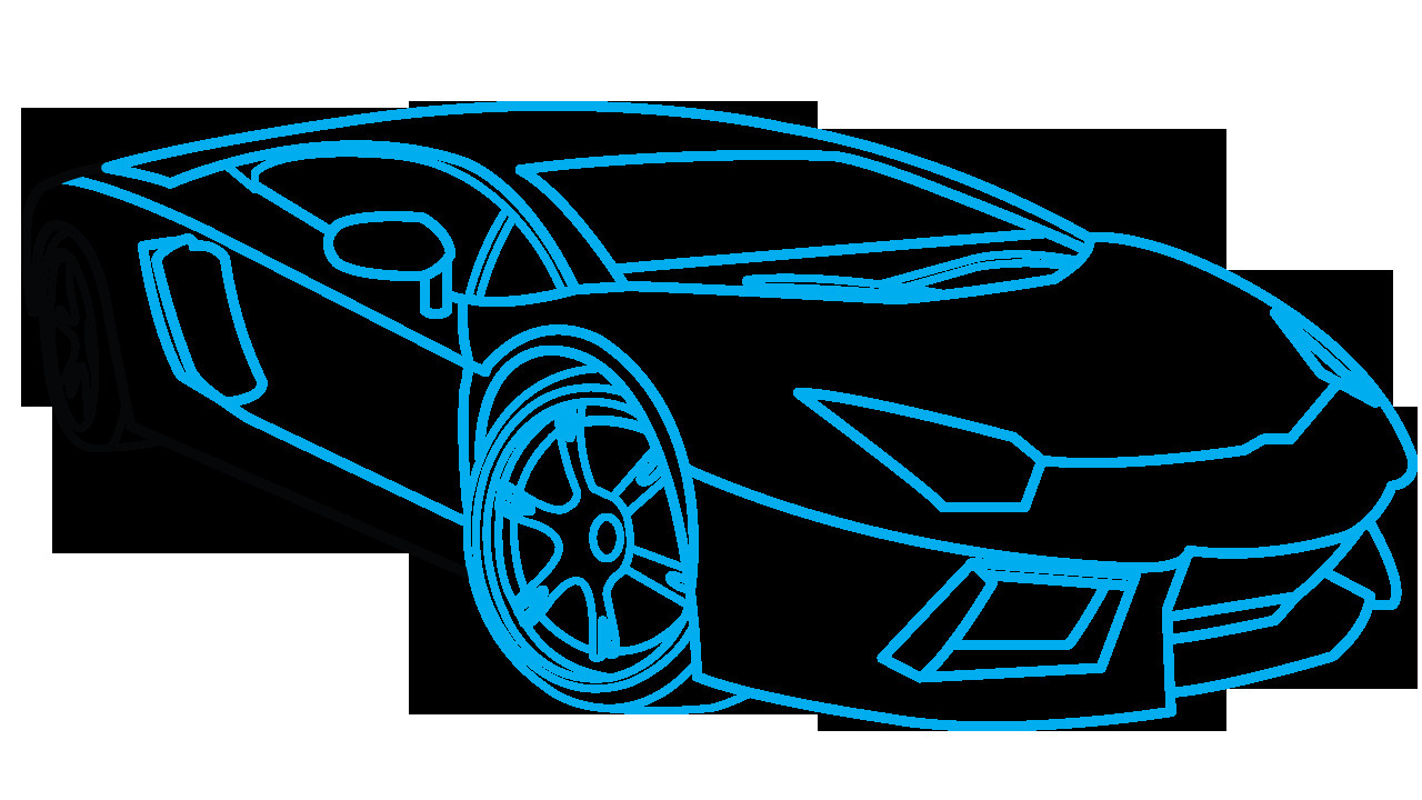 1280x720 How To Draw A Sports Car Cool Easy Cars To Draw How To Draw Cool