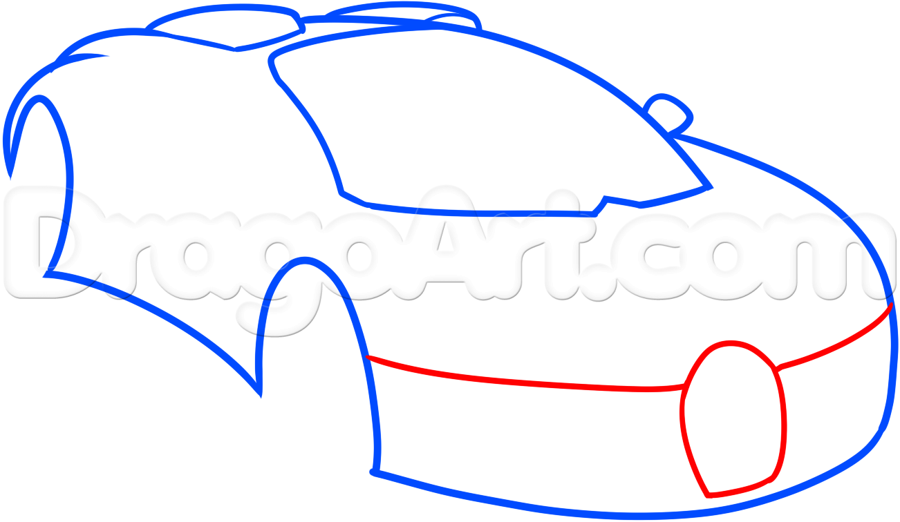 1302x756 How To Draw A Bugatti Veyron, Step