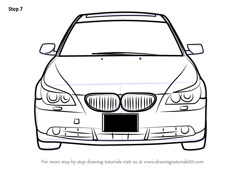 846x600 Learn How To Draw Car Front View