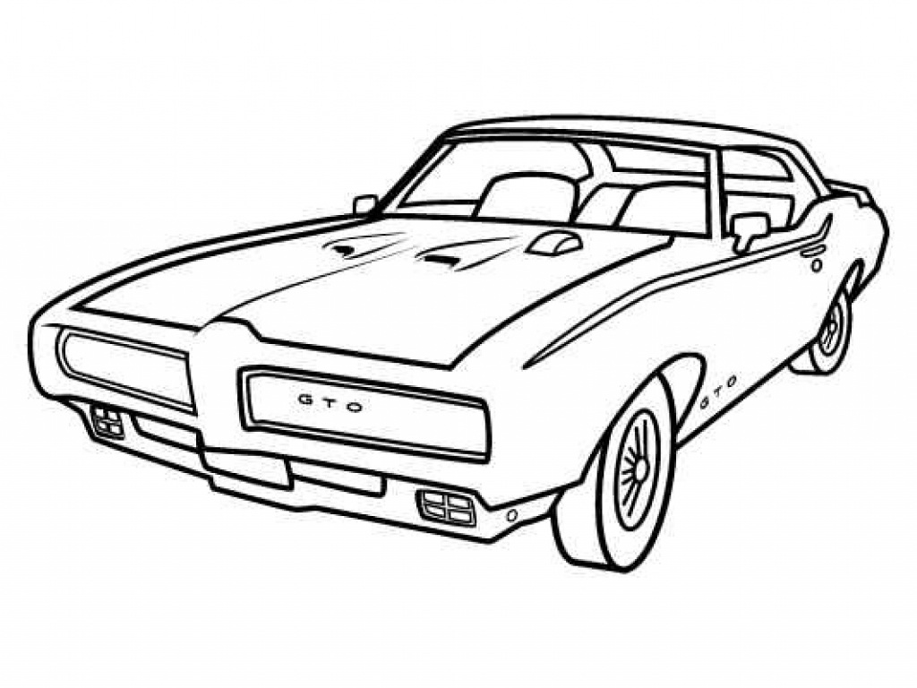 1024x768 Muscle Car Drawings Step