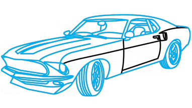 382x215 Car Drawing Mustang, Picture