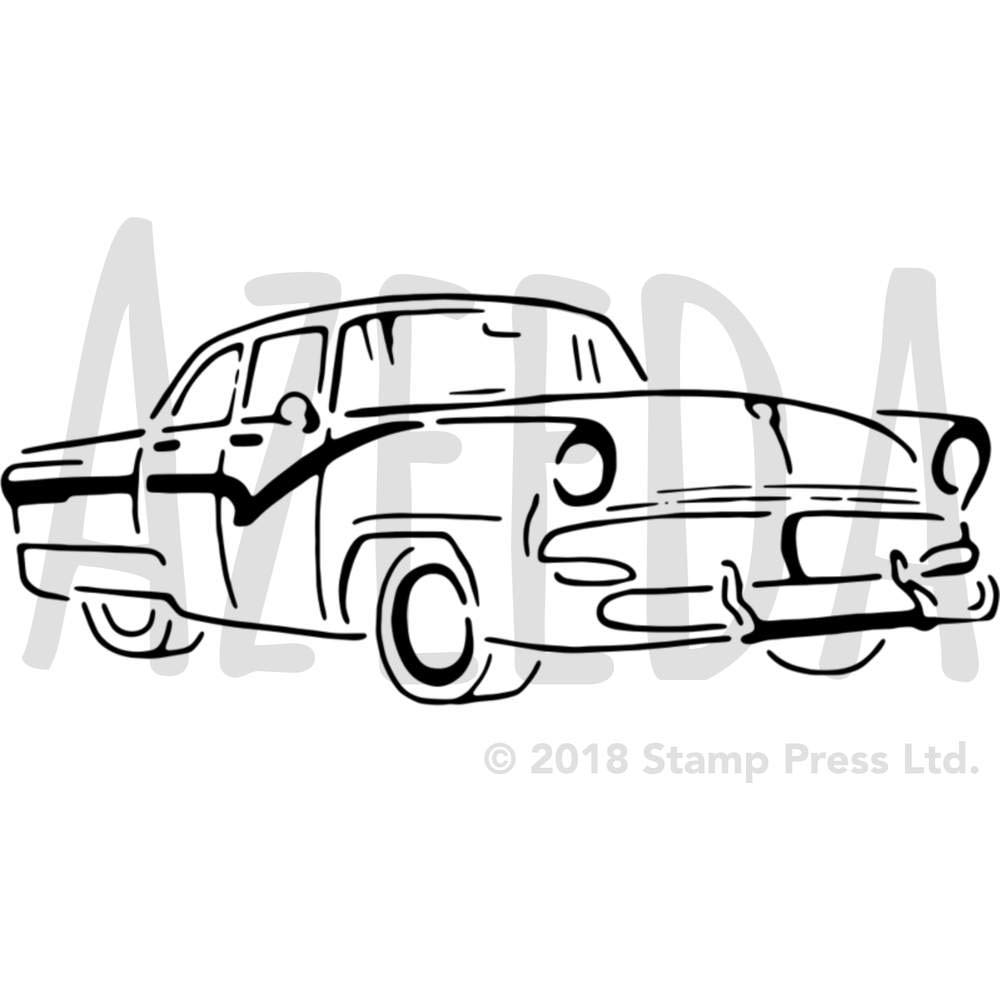 1000x1000 'classy Car' Wall Stencil Template