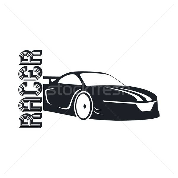600x600 Sports Car Template Vector Illustration