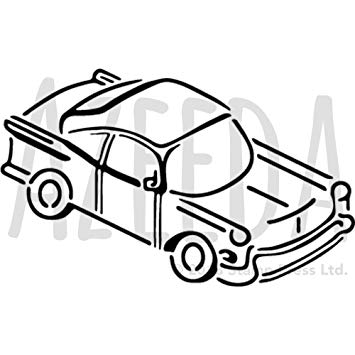 355x355 'car Front' Wall Stencil Template