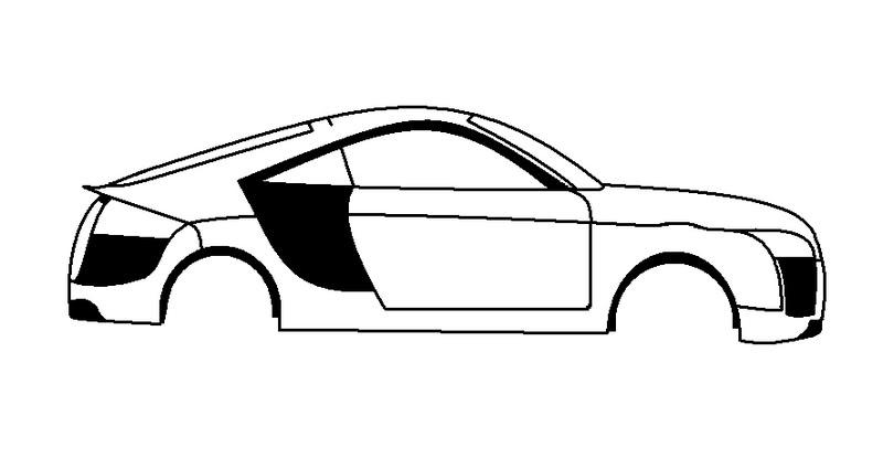 800x416 Audi Tt Drawing Template