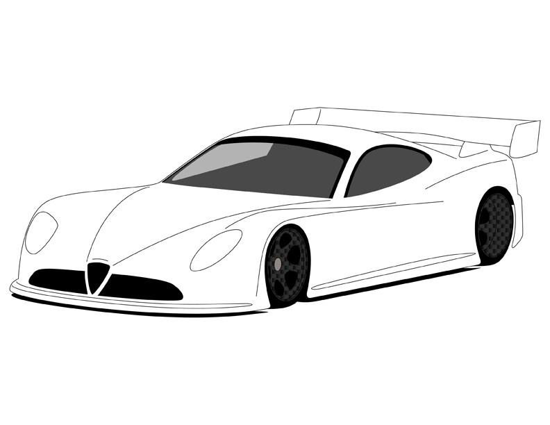 792x612 Blank Nascar Car Template