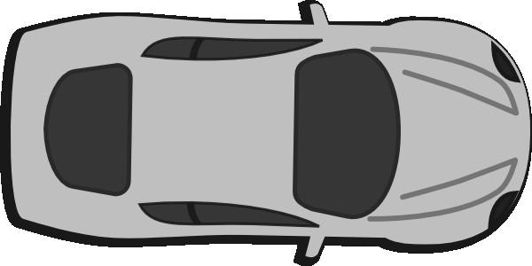 600x300 Car Image In Drawing Elegant Red Car Top View Clip Art