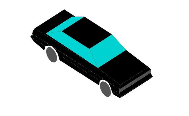 650x400 Creative Car Top View Elevation Cad Drawing Details Dwg