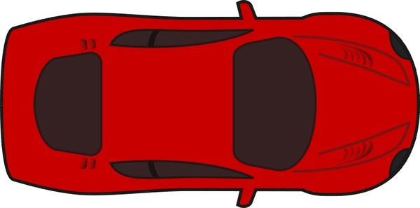 600x297 Red Racing Car Top View Free Vector In Open Office Drawing