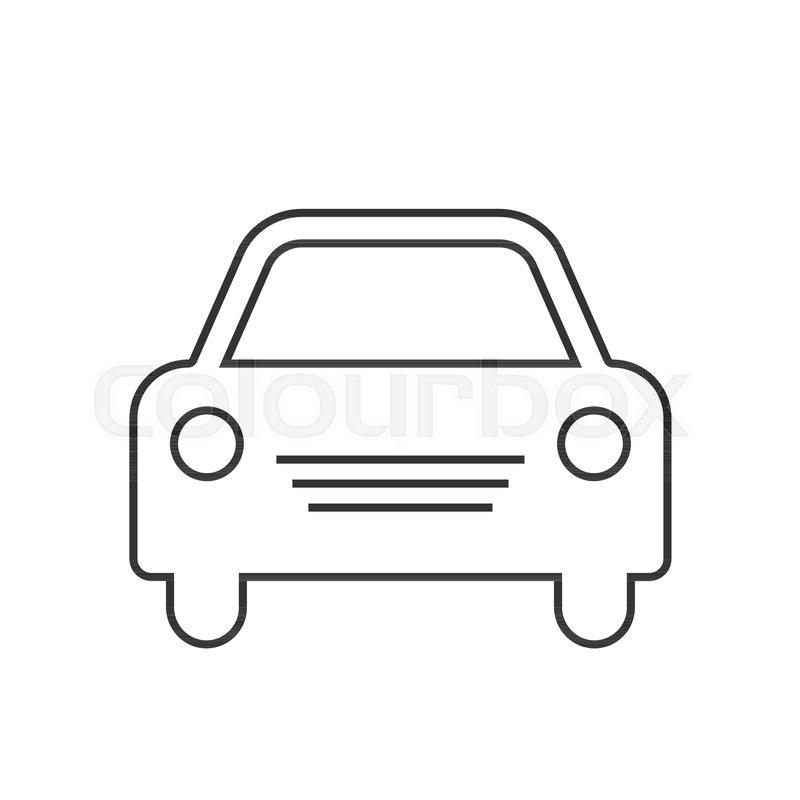 800x800 Car Vector Icon Simple Front Car Logo Stock Vector Colourbox