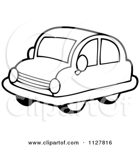 450x470 Cartoon Of An Outlined Toy Car