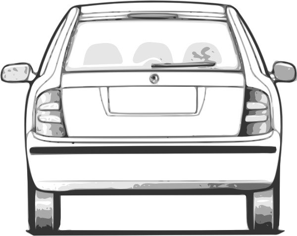 600x477 Fabia Car Back View Clip Art Free Vector In Open Office Drawing
