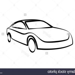 300x300 Outline Of Car Side View Vector Clipart Hoodamathrun