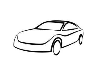 339x240 modern electric car silhouette electric car vector illustration