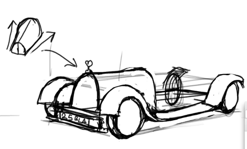 500x301 Foervraengd How I Draw A Old, Classic Car