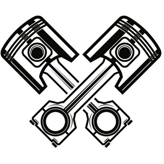 570x570 Mechanic Logo Piston Crossed Cylinder Engine Auto Car Part Etsy