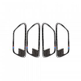 280x280 carbon fiber door handle cover trim car interior door bowl