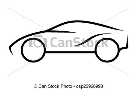 450x295 Car Line Art