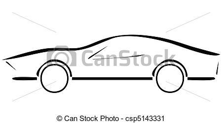 450x250 Sports Car Vector Line Art Images