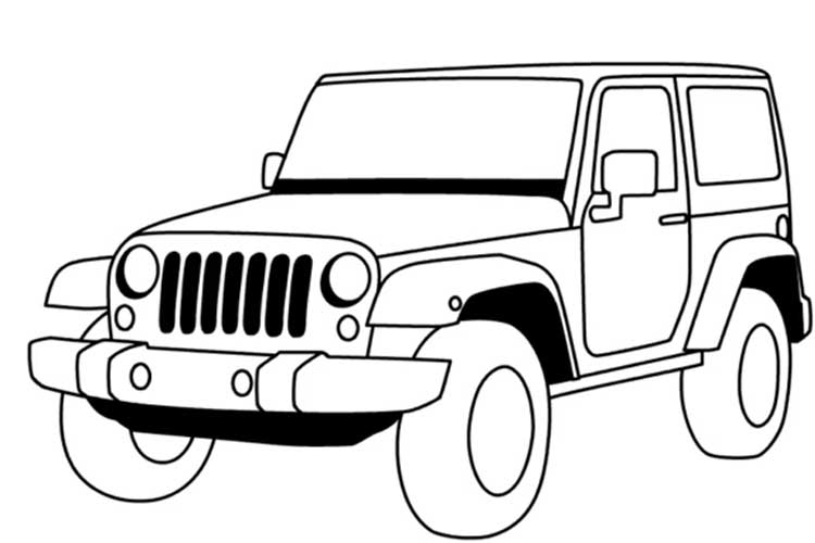 750x500 Huge Collection Of 'jeep Line Drawing' Download More Than