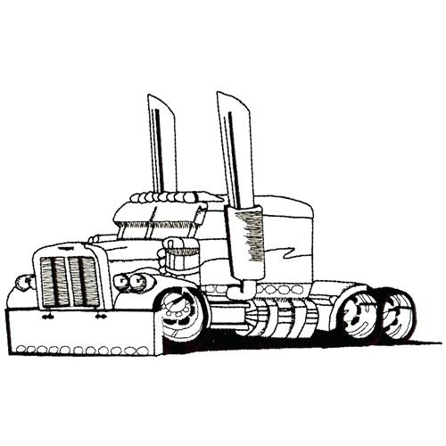 500x500 Pickup Truck Car Line Art Clip Outline Download Semi Drawing