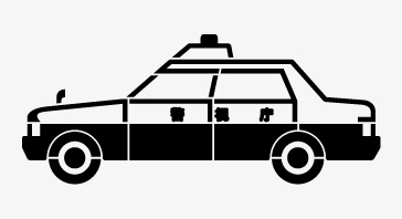 364x198 police line drawing, line vector, police car, line drawing png