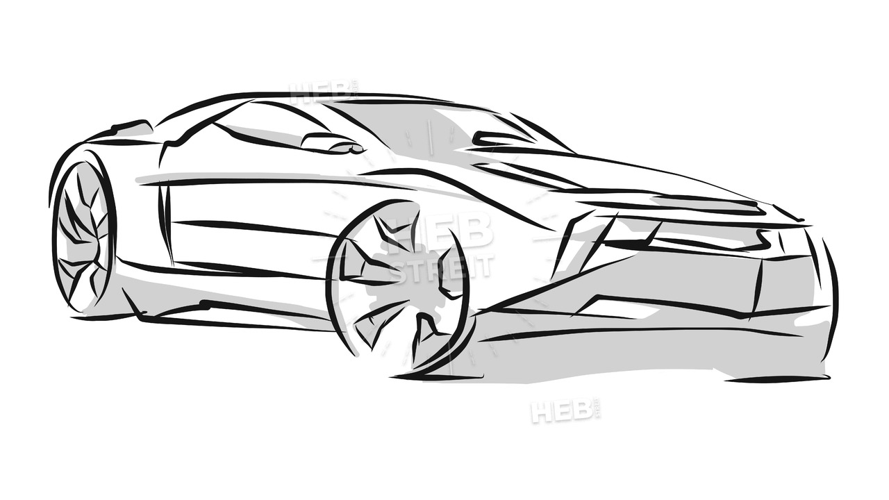 1280x720 Sports Car Line Art Sketch Hebstreits Sketches