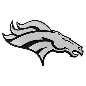 300x300 Denver Broncos Premium Solid Metal Logo Car Truck Emblem Decal