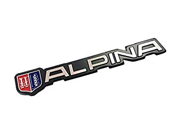 355x266 Dian Bin Alpina Metal Wire Drawing Sticker Vehicle Logo Badge